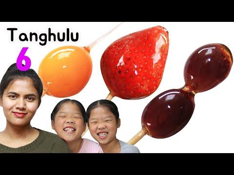 Download Mukbang Tanghulu  6 fruits TwinRoozi 6가지 과일 탕후루 먹방  쌍둥이 루지 フルーツ 湯フル Mp4 baru