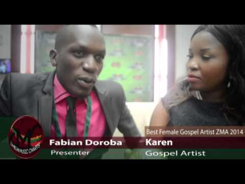 Best Female Gospel Artist ZMA 2014 Karen Interview