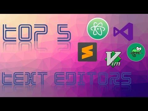 Top 5 FREE Text Editors | MAC & PC