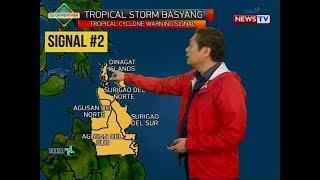 SONA: Bagyong Basyang, papalapit sa kalupaan ng Mindanao