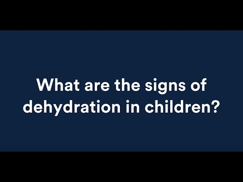 Signs of dehydration in a child