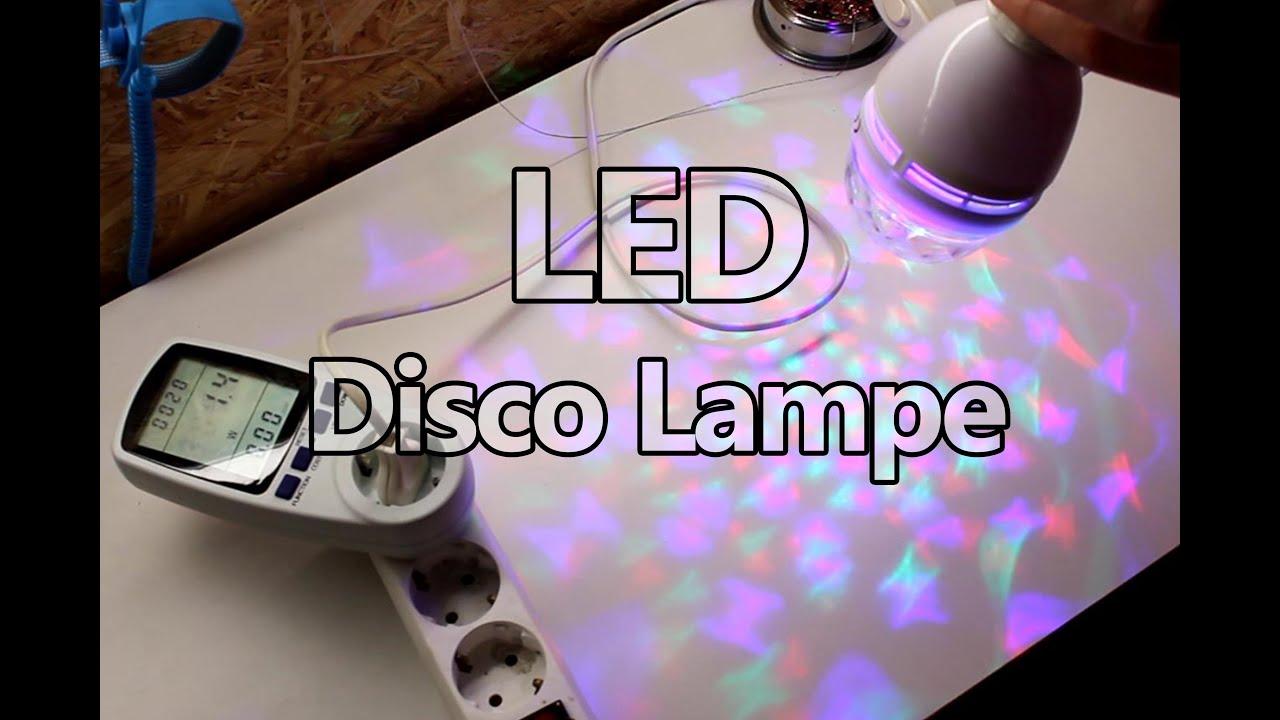 LED Disco Lampe - YouTube