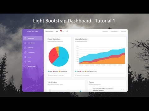 How to create a Responsive Admin Template using Light Bootst