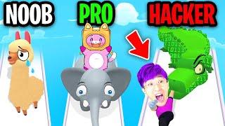 NOOB vs PRO vs HACKER In ZOO - HAPPY ANIMALS!? (ALL LEVELS!)