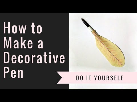 How to Make a Decorative Pen - DIY Paper Quill
