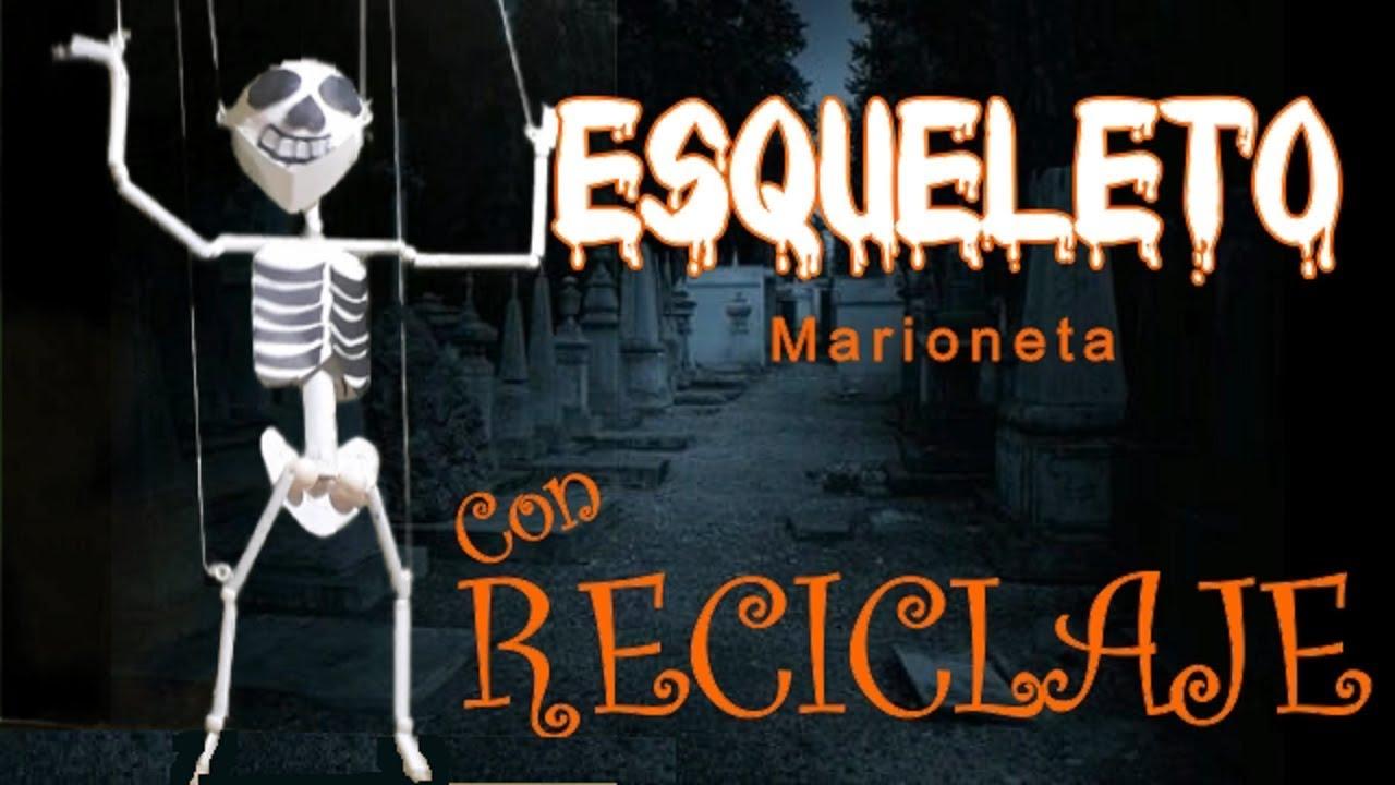 Diy Marioneta De Esqueleto Para Niños Como Hacer Un Esqueleto Con Articulaciones Youtube