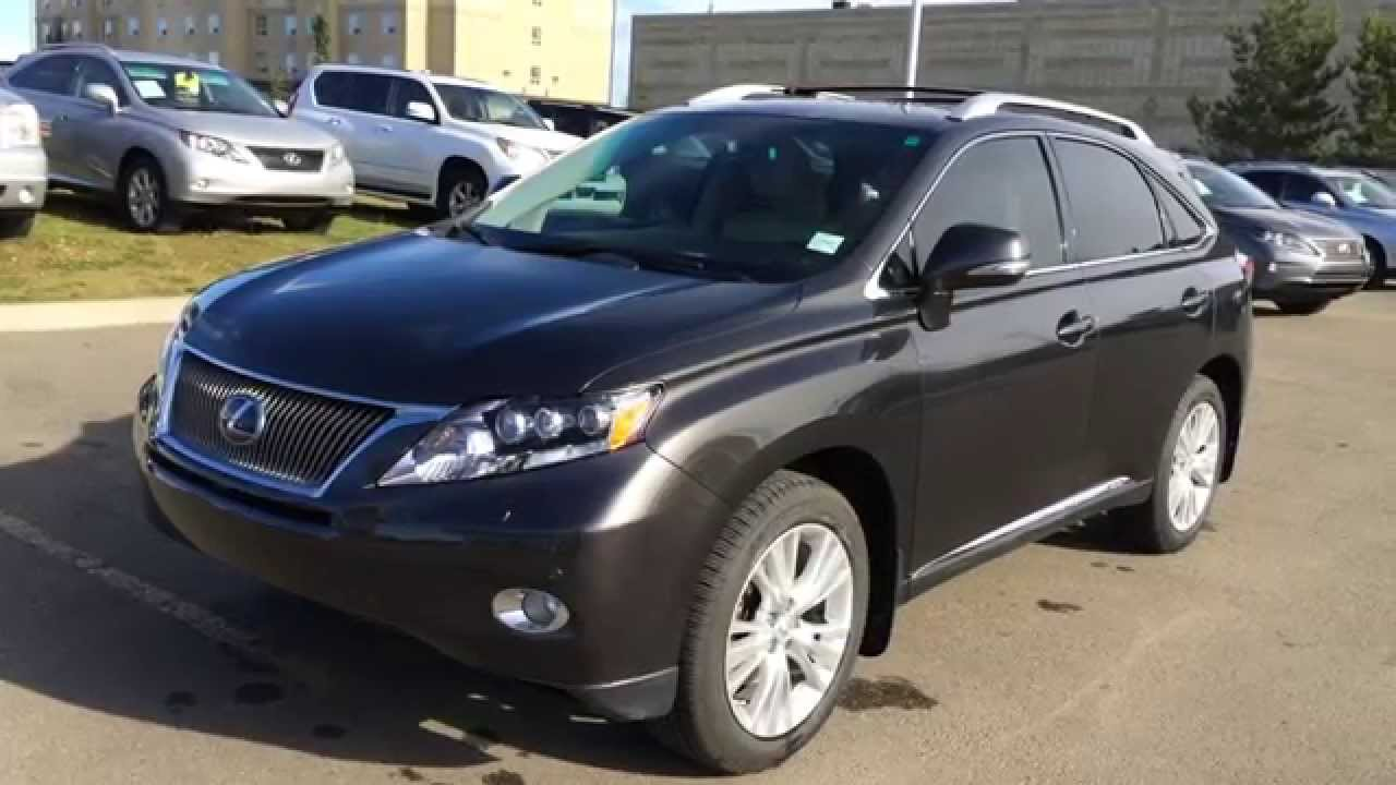 Pre Owned 2010 Lexus Rx 450h Awd 4dr Hybrid Ultra Premium Package Review Wetaskiwin Ab