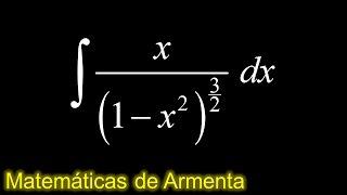 integracion por sustitucion trigonometrica ejemplo 19