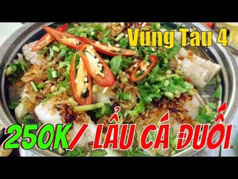 """Lý Hương TV Vũng Tàu 4 - 250k /lẩu CÁ ĐUỐI 5 đứa ăn """"ĐUỐI"""" luôn"""