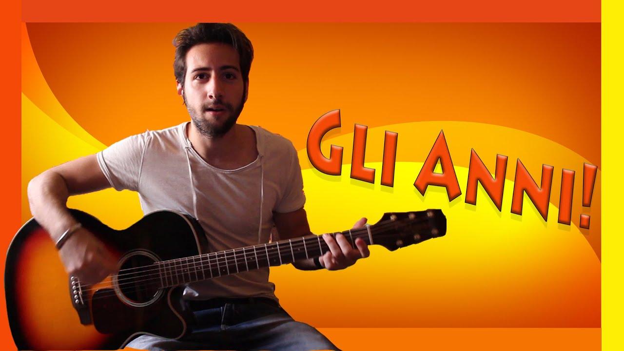 tutorial chitarra gli anni max pezzali 883 accordi
