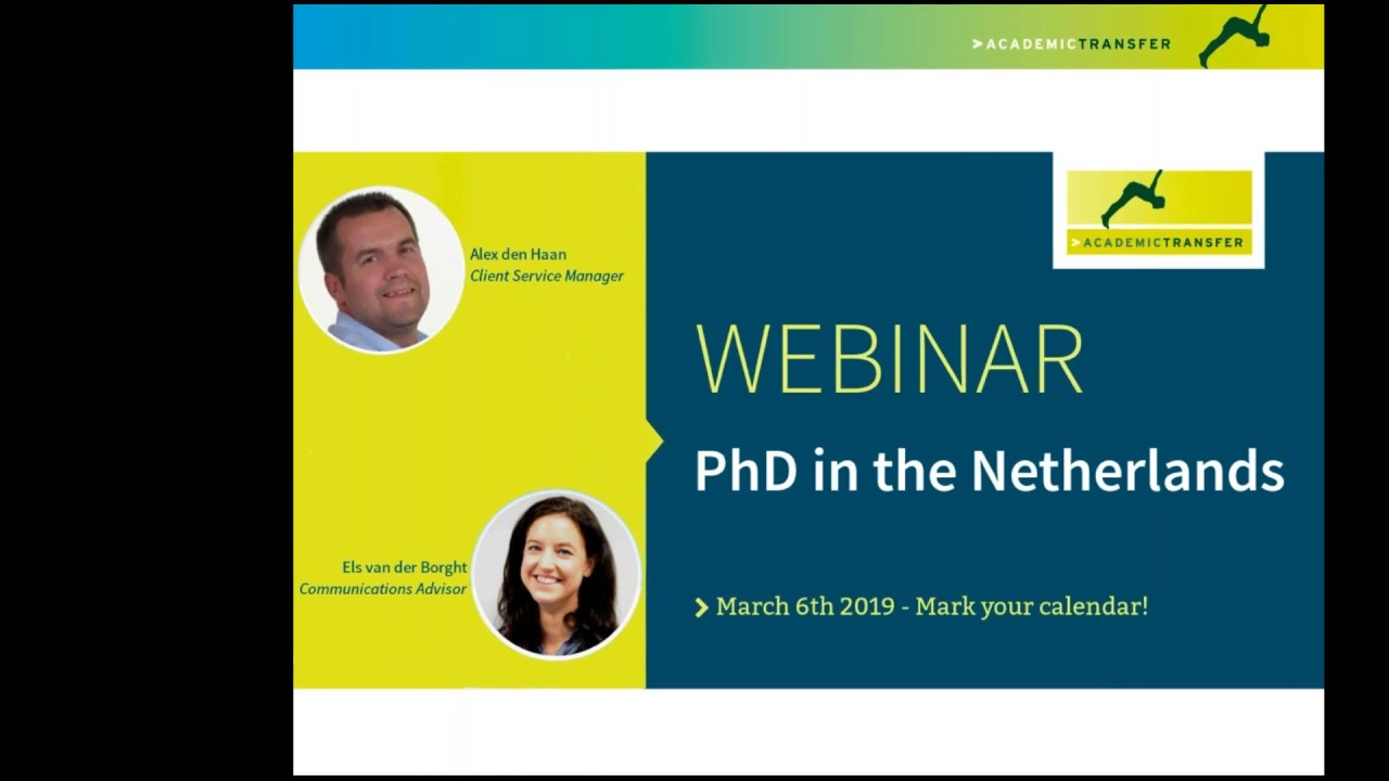 Webinar PhD in the Netherlands - AcademicTransfer