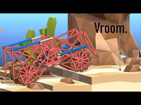 Making a Car out of a Bridge in Poly Bridge 2