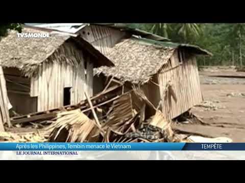 Après les Philippines, Tembin menace le Vietnam