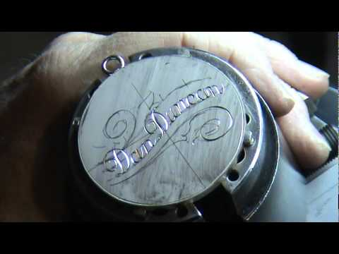 Script hand engraving by Mike Dubber
