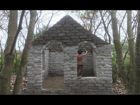Primitive technology with survival skills Wilderness build house Roman part 5