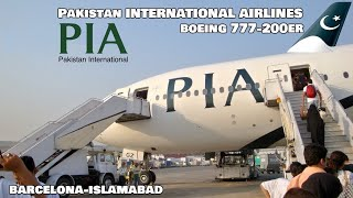 PIA PAKISTAN AIRLINES | Boeing 777-200ER (ECONOMY) Barcelona - Islamabad