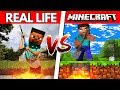 Minecraft VS Real Life - DO NOT DIG STRAIGHT DOWN! (Minecraft in Real Life)