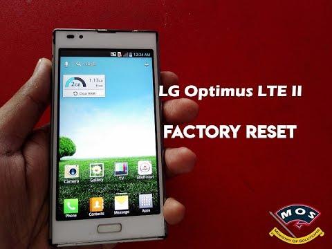 LG Optimus LTE II Factory Reset (LG F160S, LG F160K, LG F160L)