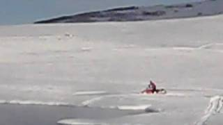 snowmoblie on water skido  cross Thumbnail