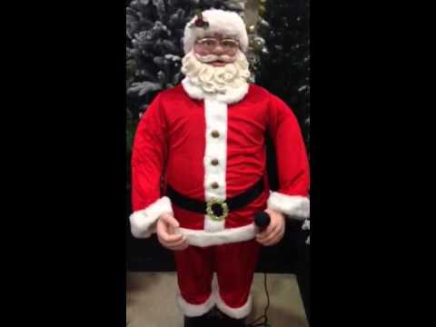 1.5M CHRISTMAS KARAOKE ANIMATED DANCING SINGING SANTA