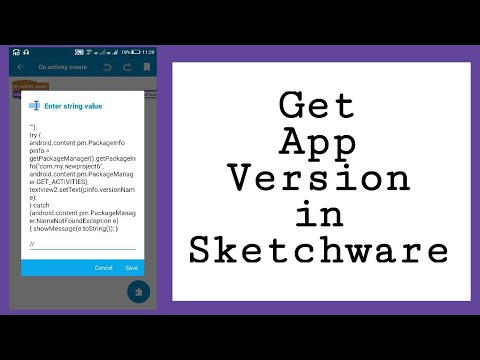 Show versionName of app in sketchware