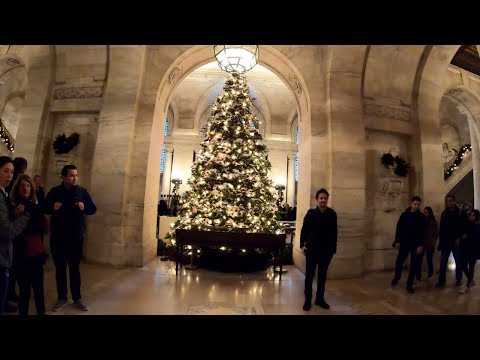 ⁴ᴷ⁶⁰ Walking Fifth Avenue, NYC on Christmas Weekend (Rockefeller Center, Trump Tower, Plaza Hotel)