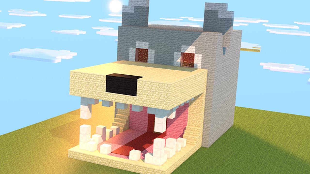 Minecraft como construir casa com forma de cachorro for Construir casas