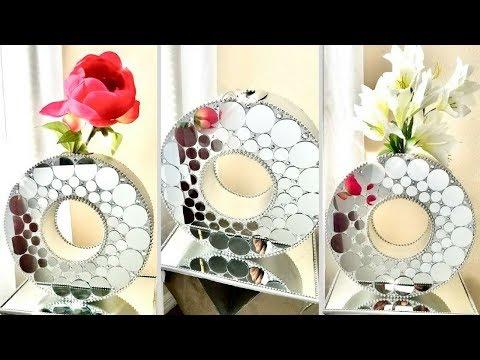 Diy Unique Large Mirror Vase  Simple and Inexpensive Home Decorating Idea!!!