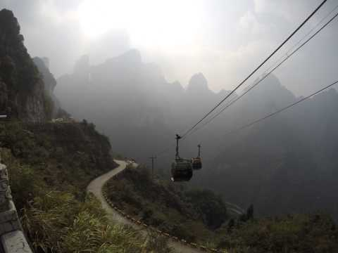 4K Timelapse China cable car