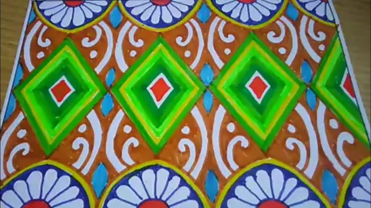 Menggambar Batik Motiv Kipas Buat Latihan