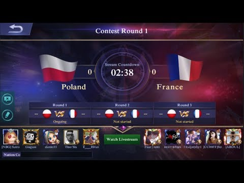 (Poland Vs France ) Mobile Legends National Arena Contest + Maen Bareng MiyyaMii