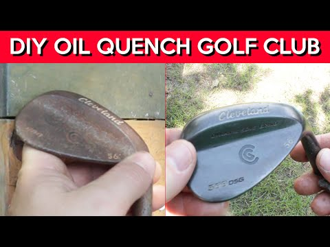 DIY Golf Club Oil Quench - First Attempt