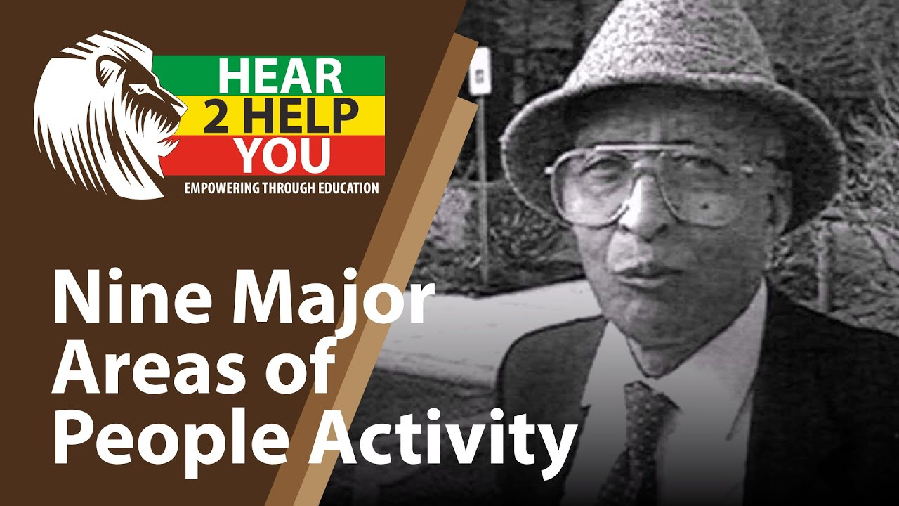 Nine Major Areas of People Activity - Neely Fuller on Hear 2 Help You