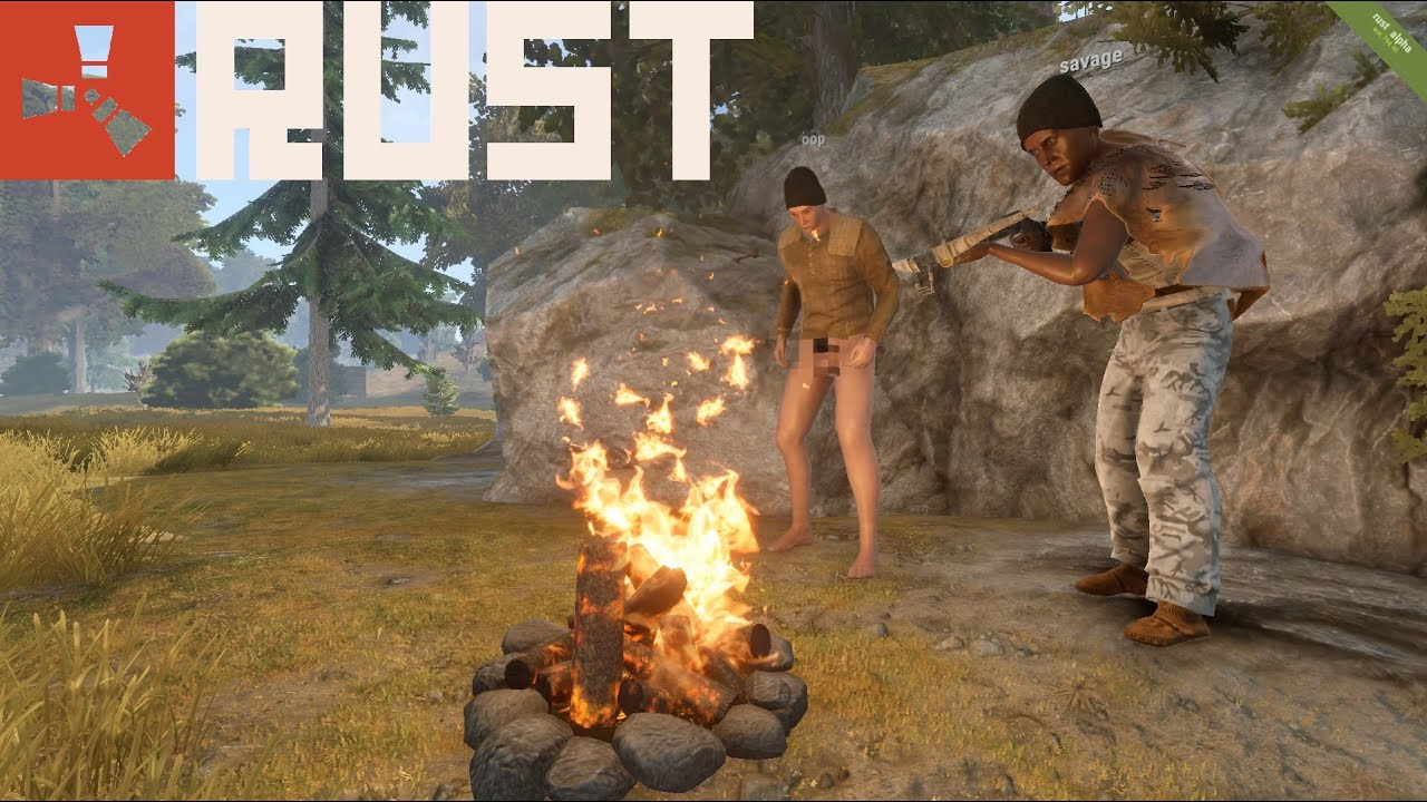 Rust game  RUST: Early Game Footage & Tips - YouTube