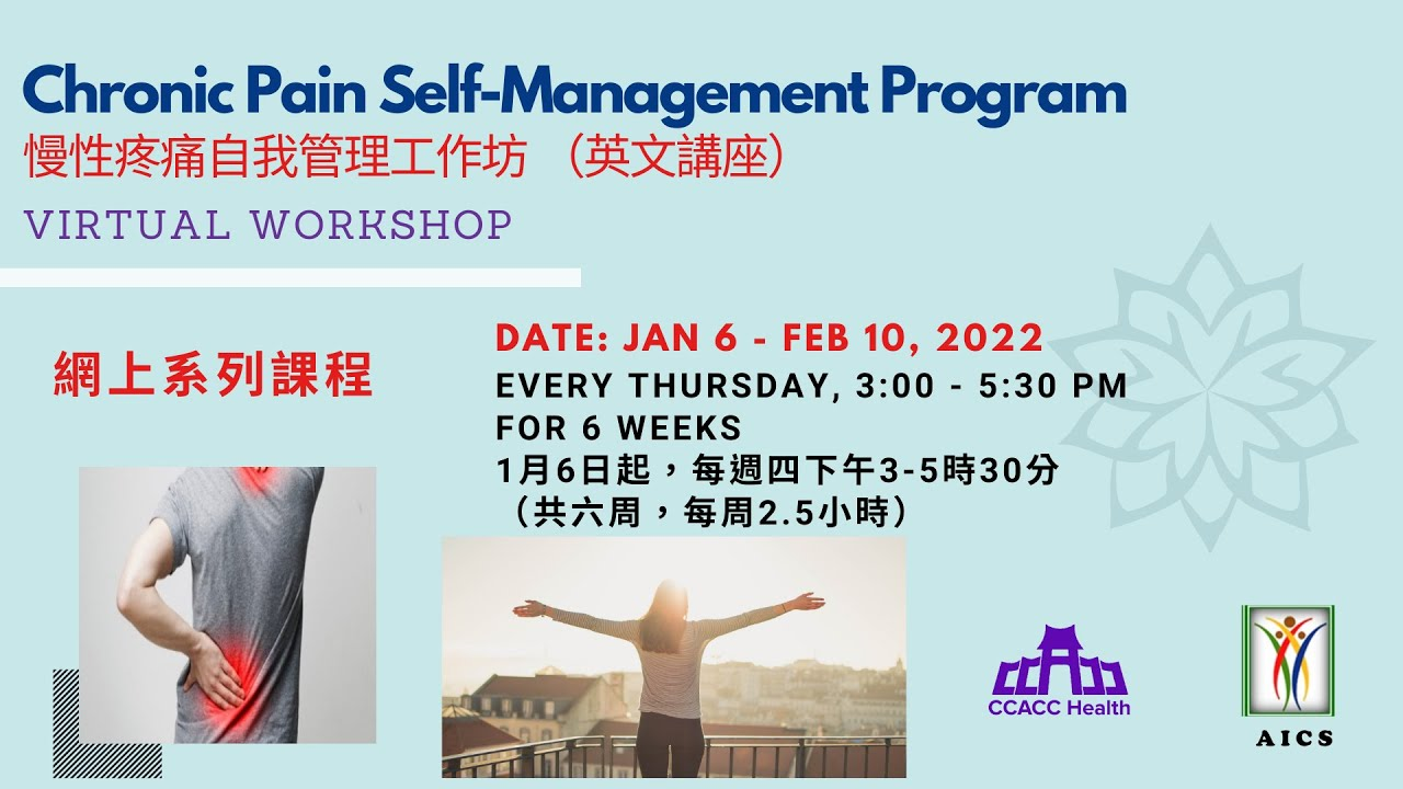 Chronic Pain Self Management Workgroup Starting 3/18/2021