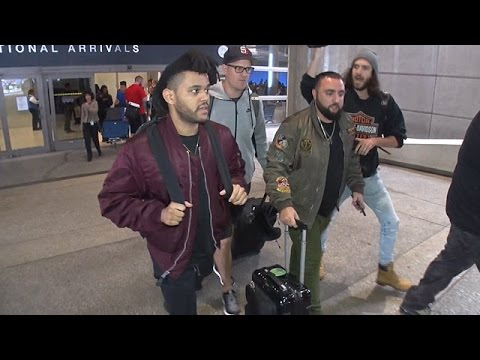 The Weeknd Almost Leaves His Luggage At LAX