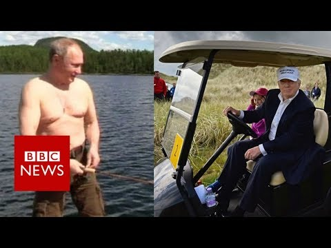 Would you holiday like Trump or Putin? - BBC News