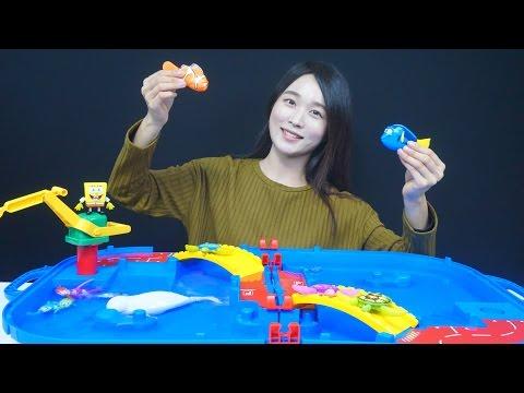 도리를 찾아서 로봇피쉬 꼬마거북이 스폰지밥 물놀이 아쿠아플레이 세트 장난감 Finding Dory & RoboFish Aqua Play Toys