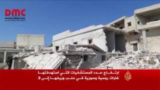 غارة روسية تدمر مستشفى بريف حلب الغربي