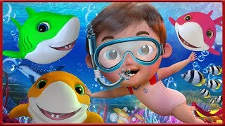 🔴 Baby Shark   +More Nursery Rhymes & Kids Songs - Banana Cartoon [HD]