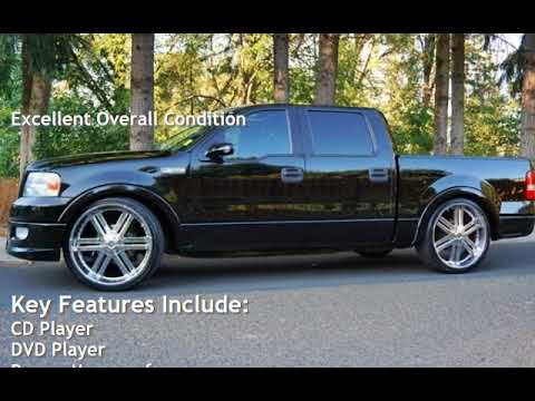 "2005 Ford F-150 Lariat Super Crew Moon Roof Lowered 26"" Wheels for sale in Milwaukie, OR"