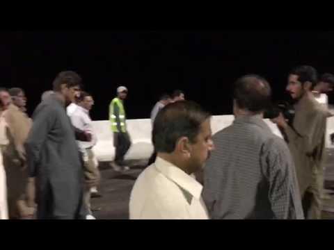 Sindh CM SYED MURAD ALI SHAH visit toll tax post at Makli Byepass (7 Dec 2016)