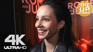 Ballerina Francesca Hayward interview on Romeo & Juliet: Beyond Words, coreography, The Royal Ballet, dance, Cats at premiere in London Interviewer: ...