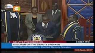 Seneta wa Tharaka Nithi achaguliwa kuwa Naibu Spika Seneti