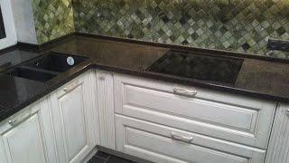 Как выбрать кухню . Кухня фасад ясень . Столешница искусственный камень CORIAN.(, 2014-12-01T20:02:58.000Z)
