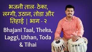 Tabla Lesson # 2 Bhajani Taal, Theka, Laggi, Uthan, Toda & Tihai |Basic Bols|Learn Beats|Classical