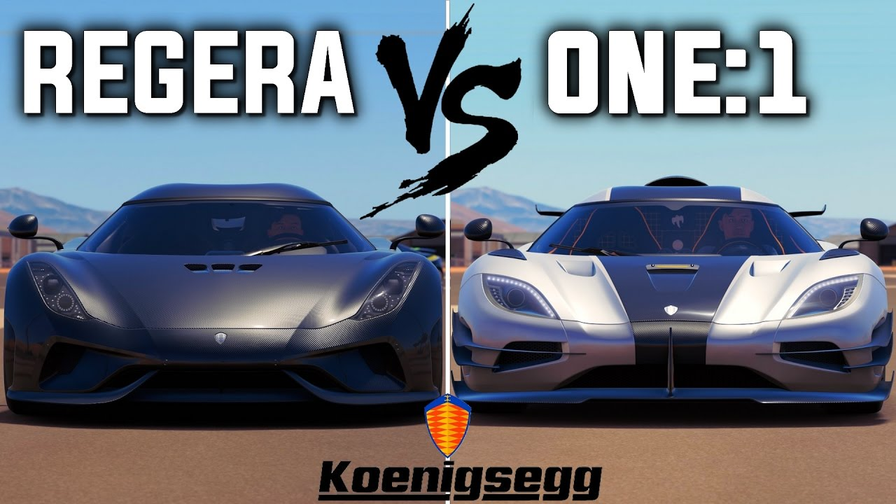 Koenigsegg Regera 2018 >> Koenigsegg REGERA vs One:1 | Forza Horizon 3 - YouTube