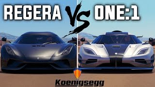 Koenigsegg REGERA vs One:1 | Forza Horizon 3