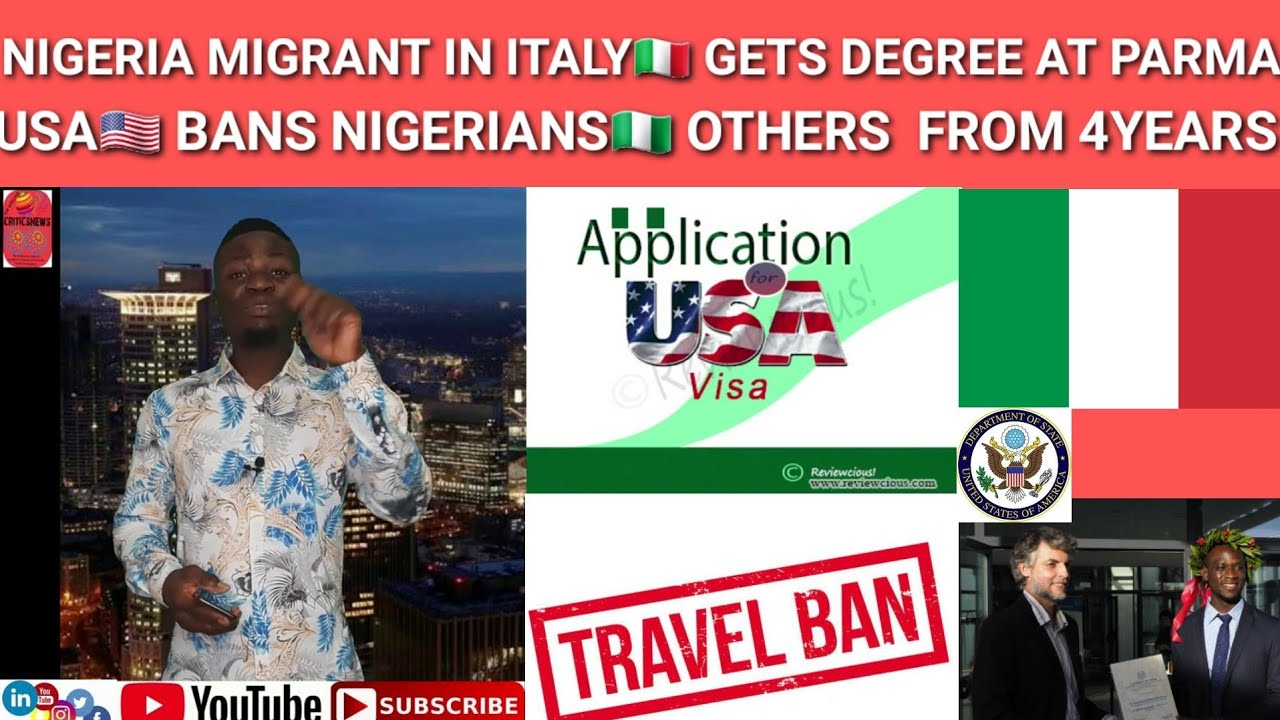 Italy🇮🇹 Nigerian🇳🇬 Migrant Bags Degree In Parma; New U.S🇱🇷 Policy Ban Nigerians Others From 4 Years
