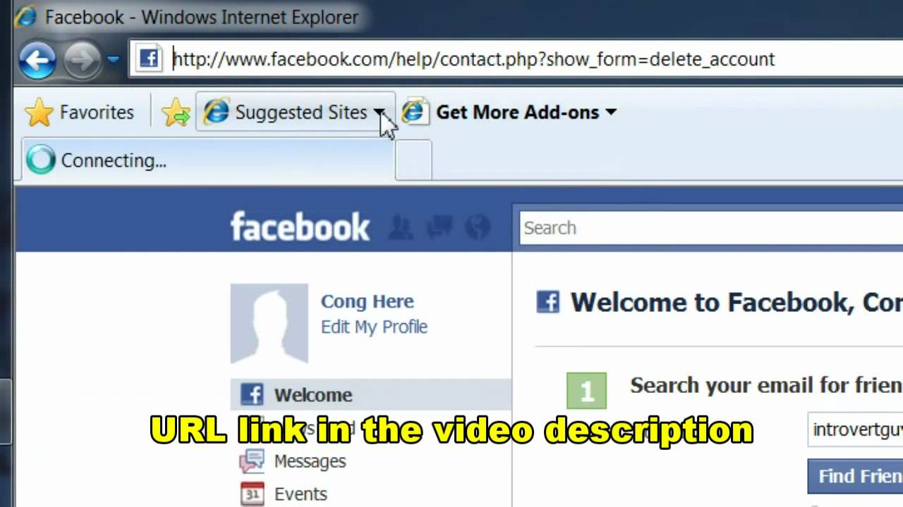 How to permanently delete your facebook accountr real youtube how to permanently delete your facebook accountr real ccuart Image collections